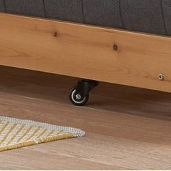 Buxton Bed with Trundle - Pine Trundle caster detail