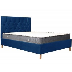 Loxley Velvet  Bed - Blue