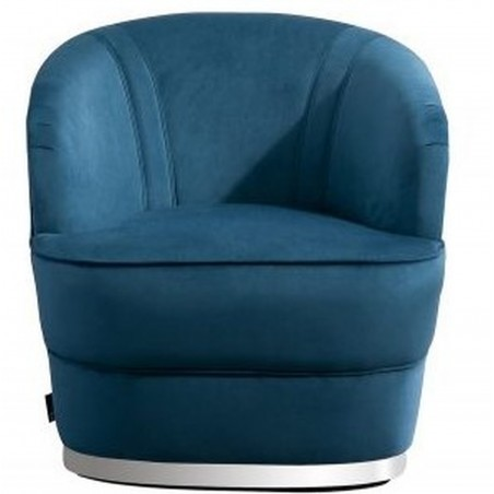 Cleo Accent Chair - Blue Front View