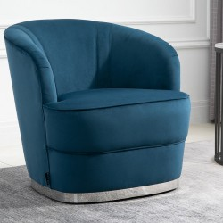 Cleo Accent Chair - Blue Angled Mood Shot