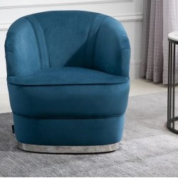 Cleo Accent Chair - Blue Front Mood Shot