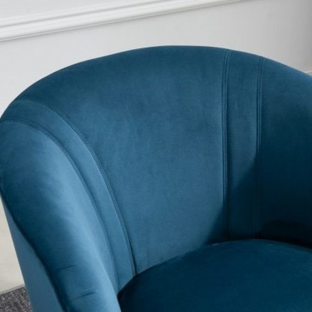 Cleo Accent Chair - Blue Back Detail