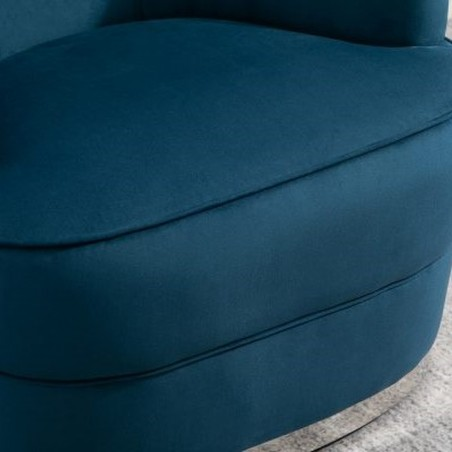 Cleo Accent Chair - Blue Seat Detail