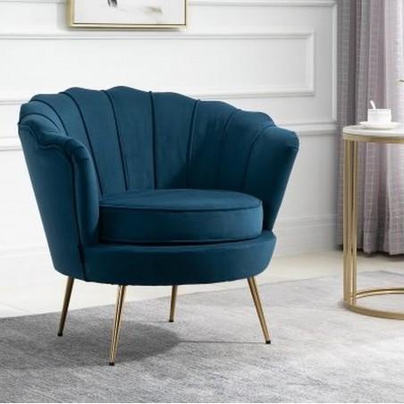 Ariel Accent Armchair - Blue Mood Shot