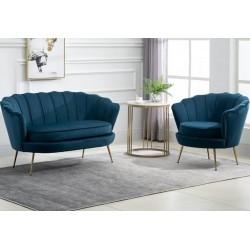 Ariel Accent Armchair - Blue Sofa & Chair Mood Shot