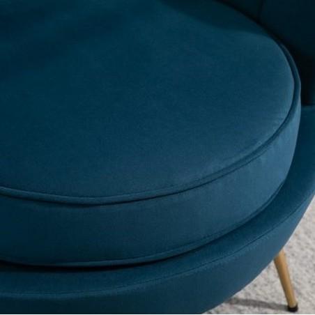 Ariel Accent Armchair - Blue Seat Detail