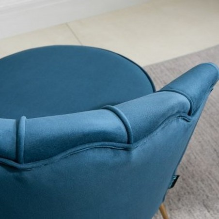 Ariel Accent Armchair - Blue Back Detail