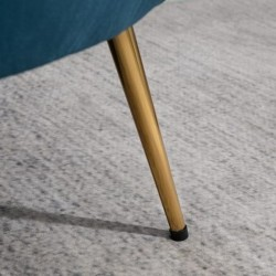 Ariel Accent Armchair - Blue leg Detail