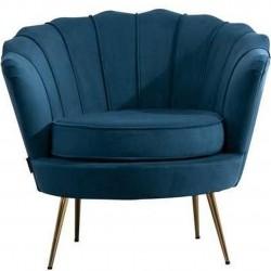 Ariel Accent Armchair - Blue Front View