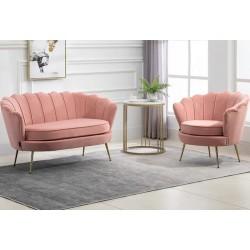 Ariel Accent Armchair - Coral Sofa & Chair Mood Shot