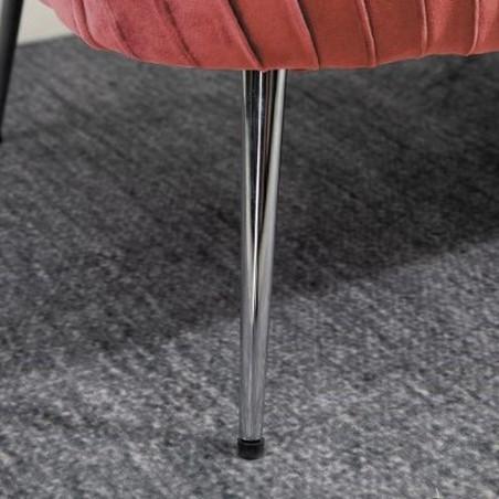 Layla Two Seater Sofa - Pink Leg Detail