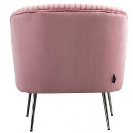 Layla Accent Chair - Pink Rear View