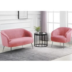 Layla Accent Chair - Pink Seat And Sofa Combination
