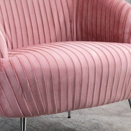 Layla Accent Chair - Pink Seat Detail
