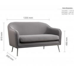 Novello Two Seater Sofa Dimensions