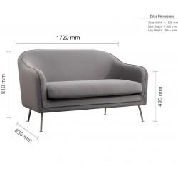 Novello Three Seater Sofa Dimensions
