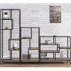 Camden Urban Medium Shelving Unit Book Shelves combo Mood Shot Front View