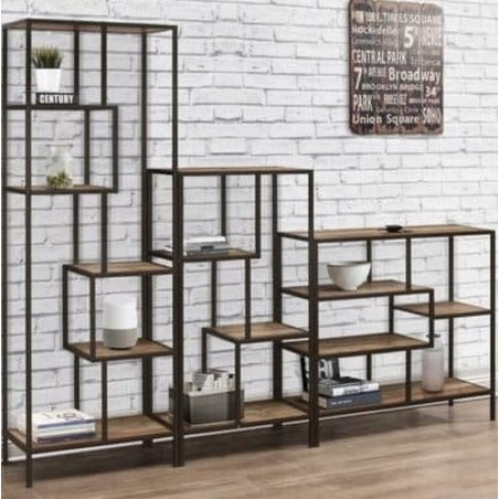 Camden Urban Medium Shelving Unit Book Shelves combo Mood Shot