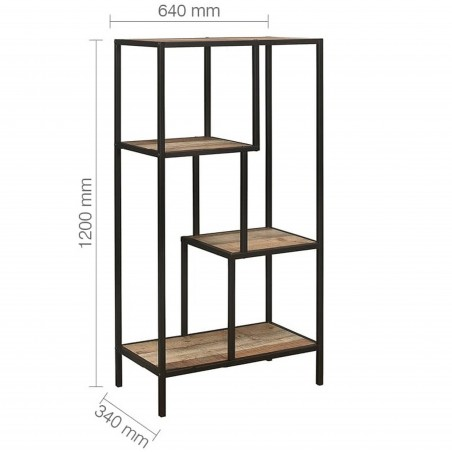 Camden Urban Medium Shelving Unit Dimensions
