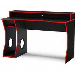 Enzo Gaming Computer Desk Rear View