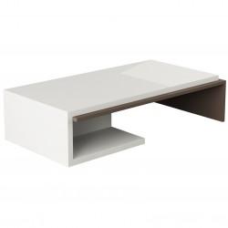 Curva Coffee Table White and Light Moca