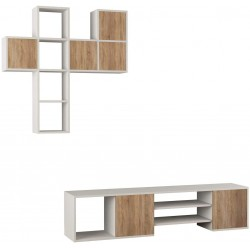 Importar Tv Stand White and Oak