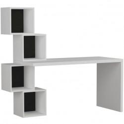 Estable Desk White and Anthracite. White Background.