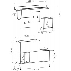 Sostener Hall Stand Dimensions