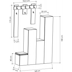 Mayor Hall Stand Dimensions