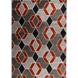 Creston Geometric Terracotta Rug