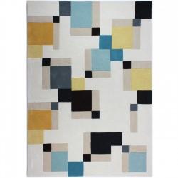 Futuna Abstract Blocks Rug, top view
