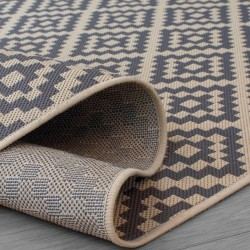 Florence Alfresco Moretti Rug - Beige & Anthracite Backing Detail
