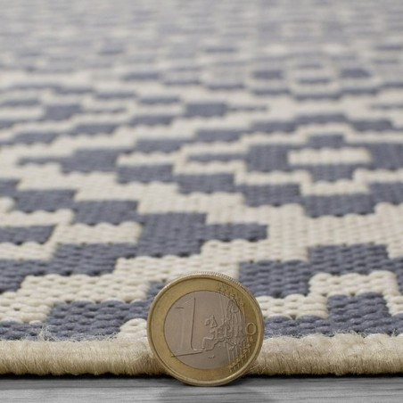 Florence Alfresco Moretti Beige Anthracite Geometric Rug by Flair Rugs