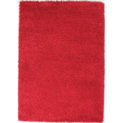 Athens Plain Shaggy Rug - Red