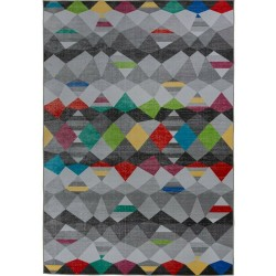 Surge Multi-Coloured Geometric Rug