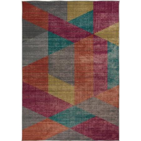 Farson Multi-Coloured Geometric Rug