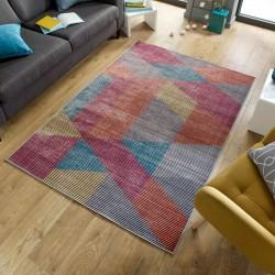 Farson Multi-Coloured Geometric Rug Mood Shot