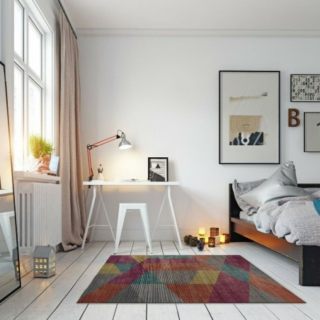 Farson Multi-Coloured Geometric Rug room Shot
