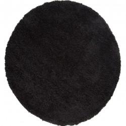 Kiruna Nordic Cariboo Shaggy Round Rug - Black
