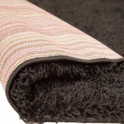 Kiruna Nordic Cariboo Shaggy Rugs - Black Backing Detail