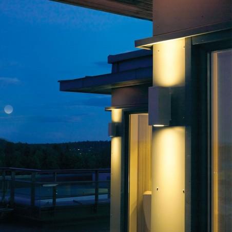 Hewlett LED Urban Wall Light - Graphite Mood Shot 1