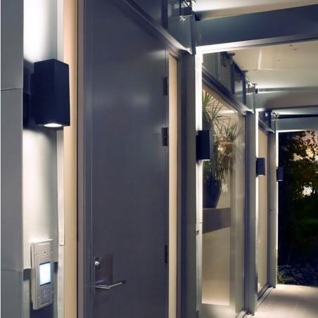 Hewlett LED Urban Wall Light - Graphite Mood Shot 2