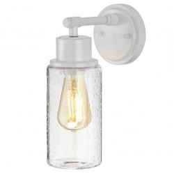 Saco Retro Bathroom Wall Light - White