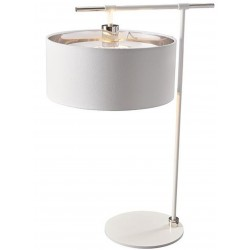 Bethel Modern Table Lamp White/ Nickel