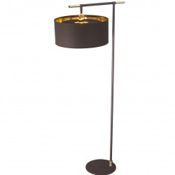 Bethel Modern Floor Lamp Brown/Brass