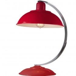 Mineola Retro Coloured Desk Lamp Red