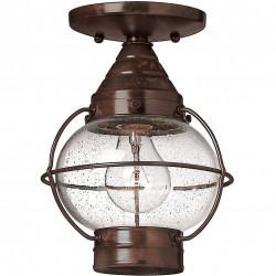 Cuero Outside Bronze Flush Lantern