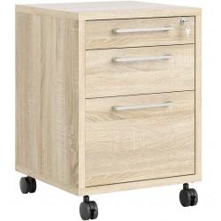 Prima 3 Drawer Mobile File Cabinet - Oak