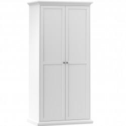 Marlow 2 Door Wardrobe in white, white background