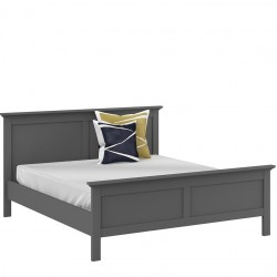 Marlow King Size Bed in matte grey, Dressed